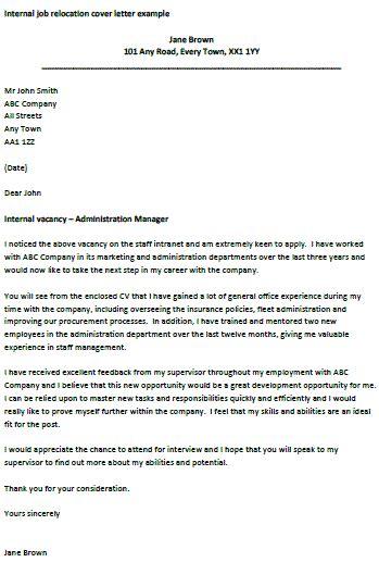 internal job relocation letter learnistorg