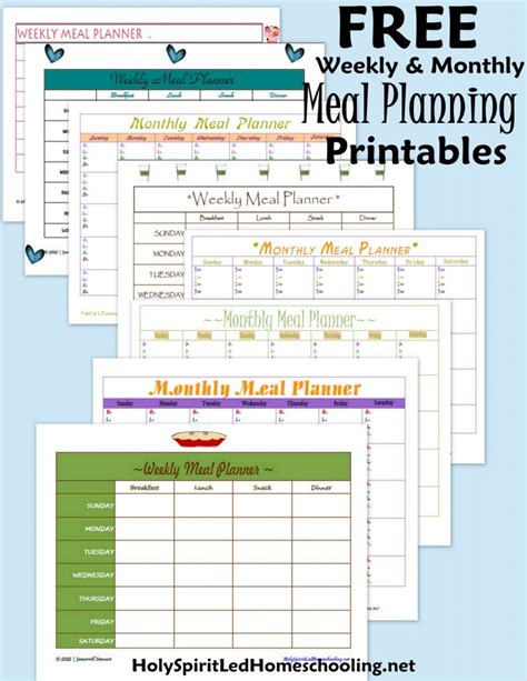 meal planning calendar template free free monthly meal planner new calendar template site
