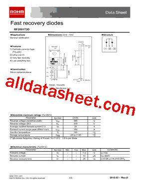 transistor e13007 datasheet pdf rf2001t3d datasheet pdf rohm