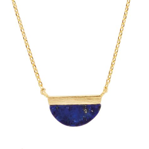 All the Luck in the World / Galaxy necklace moon B blue lapis lazuli