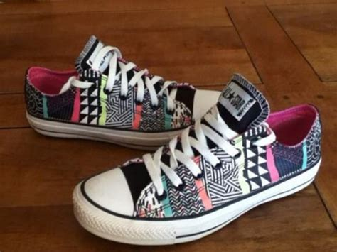 colorful converse shoes converse colorful beautiful pattern aztec