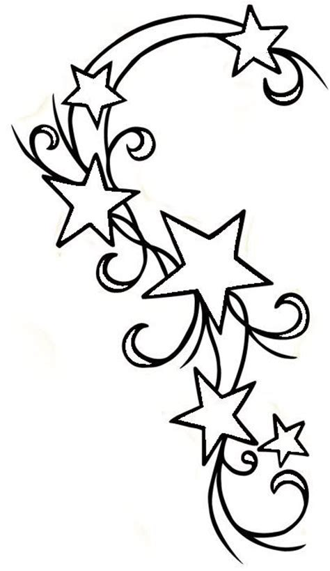 star outline tattoo swirly outline jpg 405 215 700 embriodery