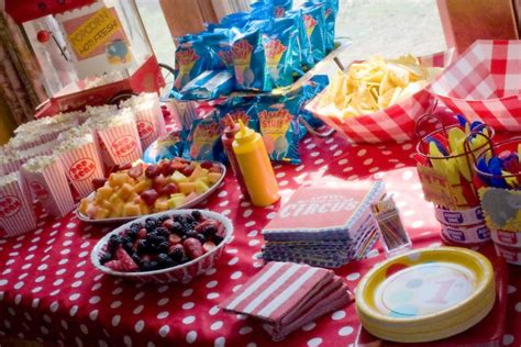 carnival themed food evan s first birthday circus party food