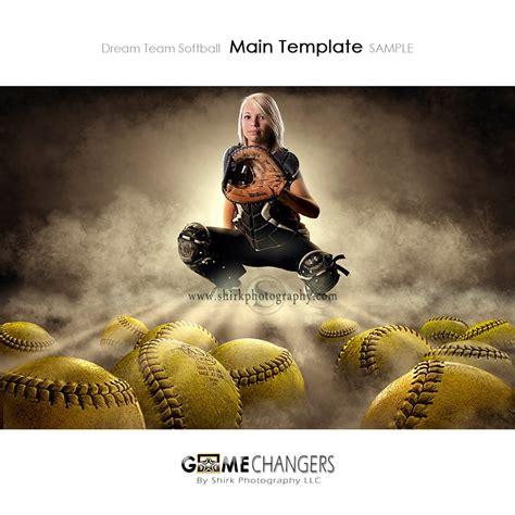 Dream Team Softball Photoshop Template Tutorial Game Changers By Shirk Photography Llc Softball Team Banner Templates
