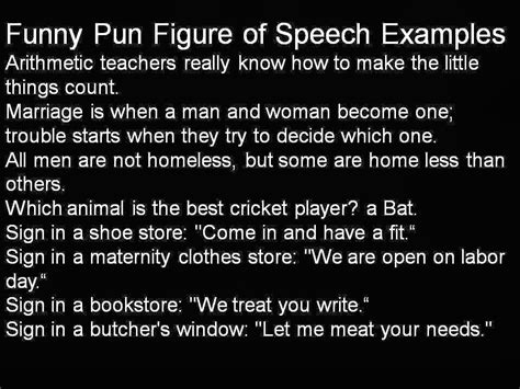 exle of a pun ipersuade list of pun jokes with exles