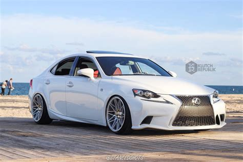 stanced 2014 lexus is250 klutch wheels km20 on a lexus is250 klutch republik