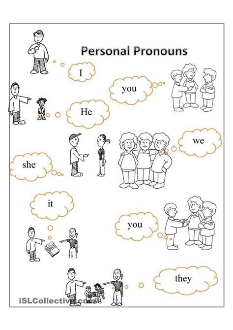 Printable Worksheets On Pronouns | personal pronouns free esl worksheets english
