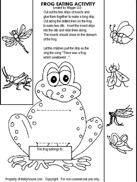 frog coloring worksheet frog activityhttp kiddyhouse themes frogs printables frogeat gif bugs in the