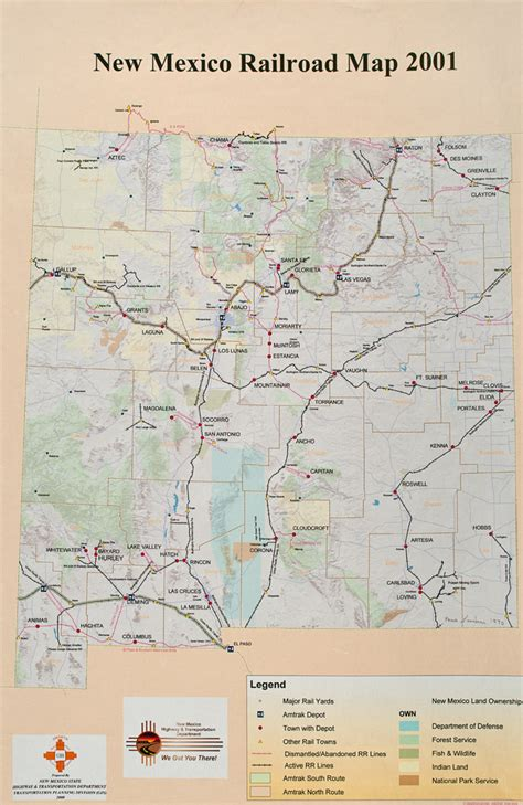 railway system map of mexico new mexico railroad map bnhspine com