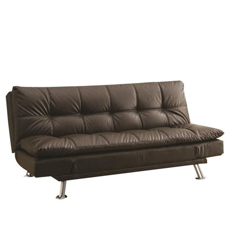 armless sofa beds coaster extra plush convertible armless sofa bed in brown