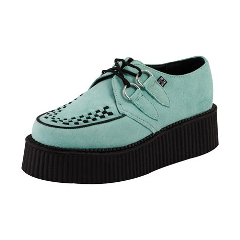 t u k shoes mint suede mondo high sole creepers