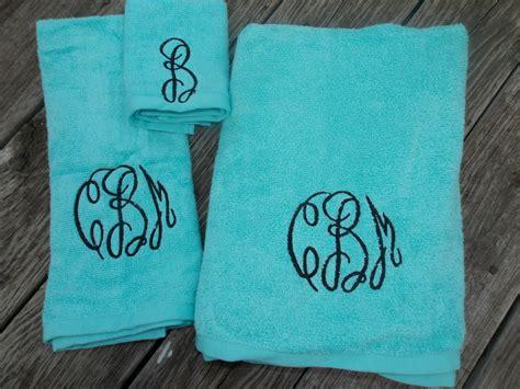 monogrammed bath towels script monogrammed bath towel set monogrammed towel set