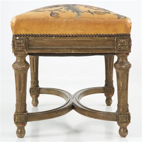 antique ottomans footstools french louis xvi style painted antique foot stool ottoman