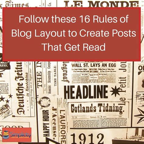 newspaper layout rules follow these 16 rules of blog layout to create blog posts
