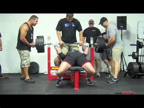 bench press record by weight class ridiculous 705 lb bench press jeff just misses record