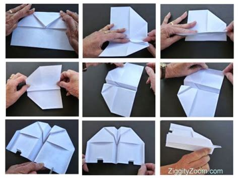 How To Make A Paper Plane Glider - paper airplanes ziggity zoom