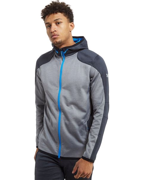 Sweater Jaket Zipper Hoodie Armour Athleticsgray lyst armour reactor zip hoodie in gray for