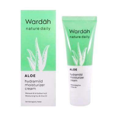 Harga Wardah Aloe Hydramild Wash jual wardah nature daily aloe hydramild moisturizer