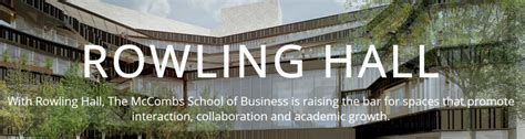 Utexas Mba Admissions by The Road To Rowling Future Home Of The Mba Program