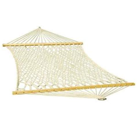 algoma 11 ft cotton rope hammock 4901c the home depot