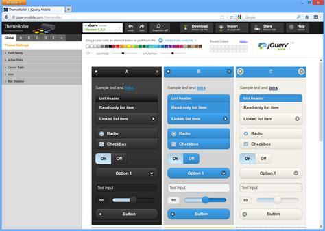 jquery mobile themeroller jquery mobileの themeroller でスマートフォン向けブログ表示の色をいじる 今日の気分は