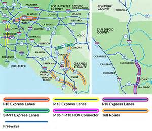 california toll roads map ie511 org traffic and travel information for southern