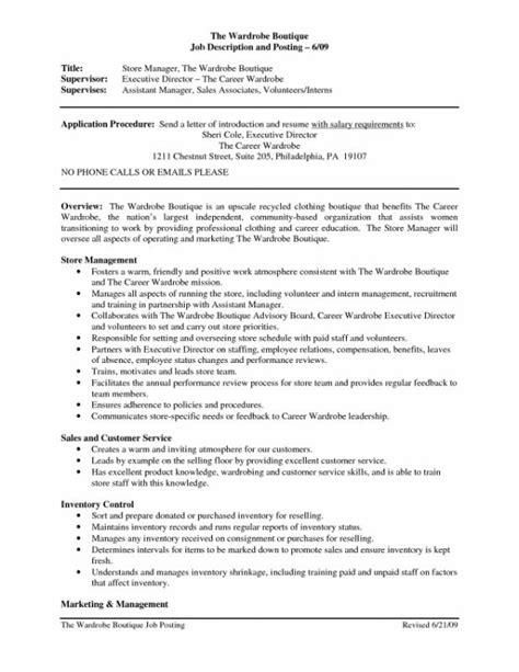 Description For Resume Sales Associate by Sales Associate Description Resume