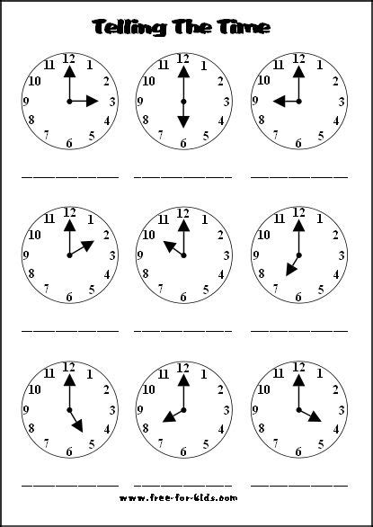 44 best images about kindergarten telling time on