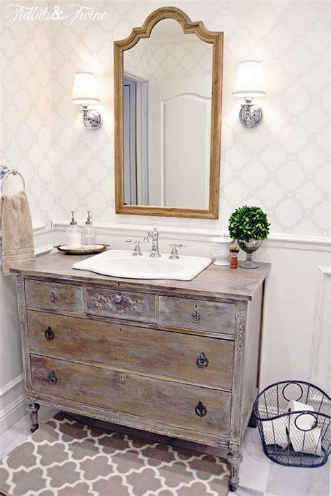 repurposed bathroom cabinet 34 rustic bathroom vanities and cabinets for a cozy touch