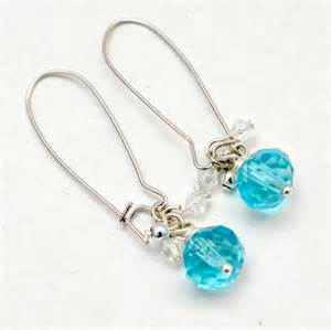 Crystal Beads Jewelry Making - how to make dangle earrings in 4 simple steps