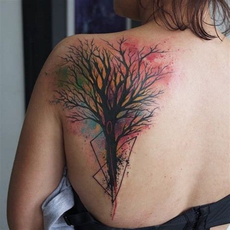 watercolor tattoo tree best 25 watercolor tree ideas on