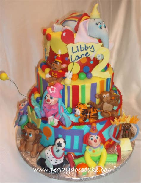 Southern Blue Celeb Ions Circus Cake  Ee  Ideas Ee