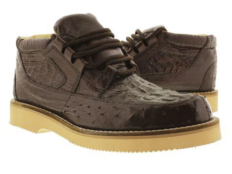mens ostrich skin boots mens brown genuine crocodile ostrich skin sneaker shoes