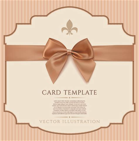 bow card template ribbon bow card template free vector 25 741 free