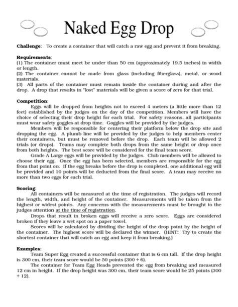 egg drop lab report template softschools