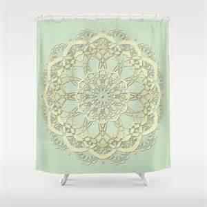 mint shower curtain mint green decor green by