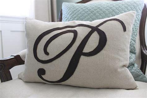 Monogram Pillow by Chic Diy Monogram Pillow
