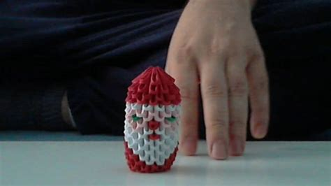 3d Origami Santa Claus - how to make 3d origami santa claus