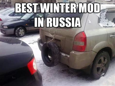 Russian Car Meme - winter is coming they said brace for it they said in