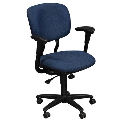 Used Desk Chairs - haworth improv desk used task chair blue national