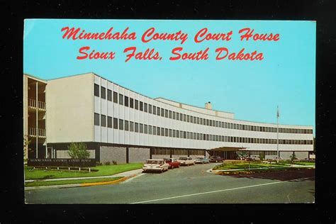 Sioux Falls Post Office by 1960s Minnehaha County Court House Cars Sioux Falls Sd