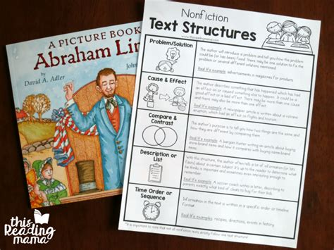 what text structure is a biography nonfiction text structures chart this reading mama