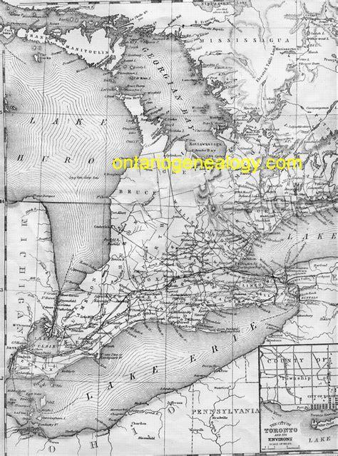 Ontario Canada Genealogy Marriage Records Canada Map