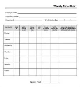 Weekly Timesheet Template Excel Free by Weekly Timesheet Template 8 Free Sles Exles