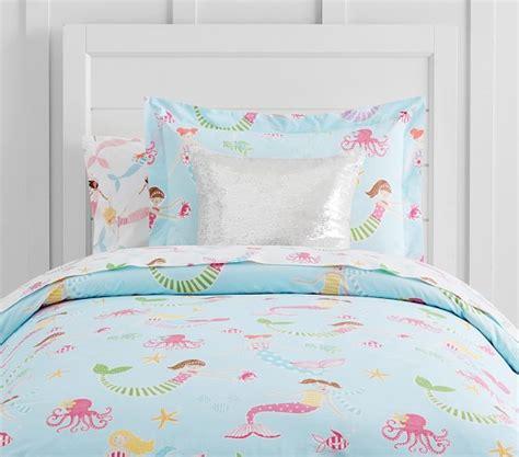Organic Mermaid Duvet Cover Pottery Barn Kids Mermaid Bedding For