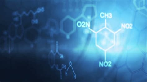 3d chemicals formula stock footage
