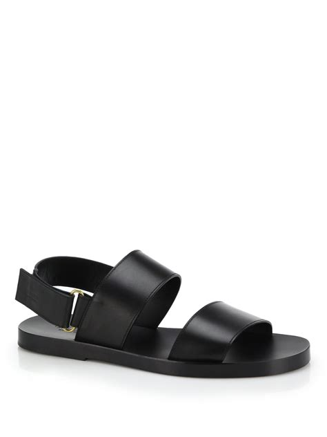 gucci sandals gucci brighton leather sandals in black for lyst