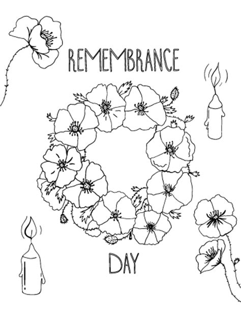 free printable coloring pages remembrance day free remembrance day coloring page