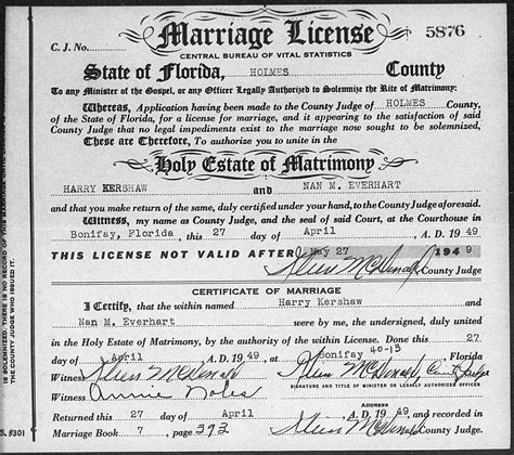 Is A Marriage Certificate Record Florida Marriage Records Familytree