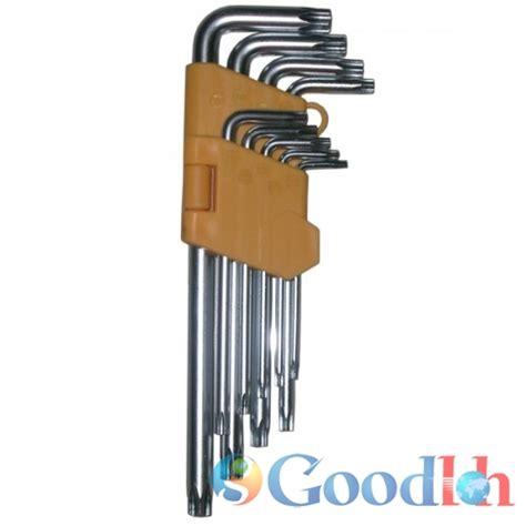 Kunci L 9 Pcs Hex Key Set Lafuma Mata Bintang Segi 6 Kombinasi Univ kunci l hex key kunci l bintang 9 pcs